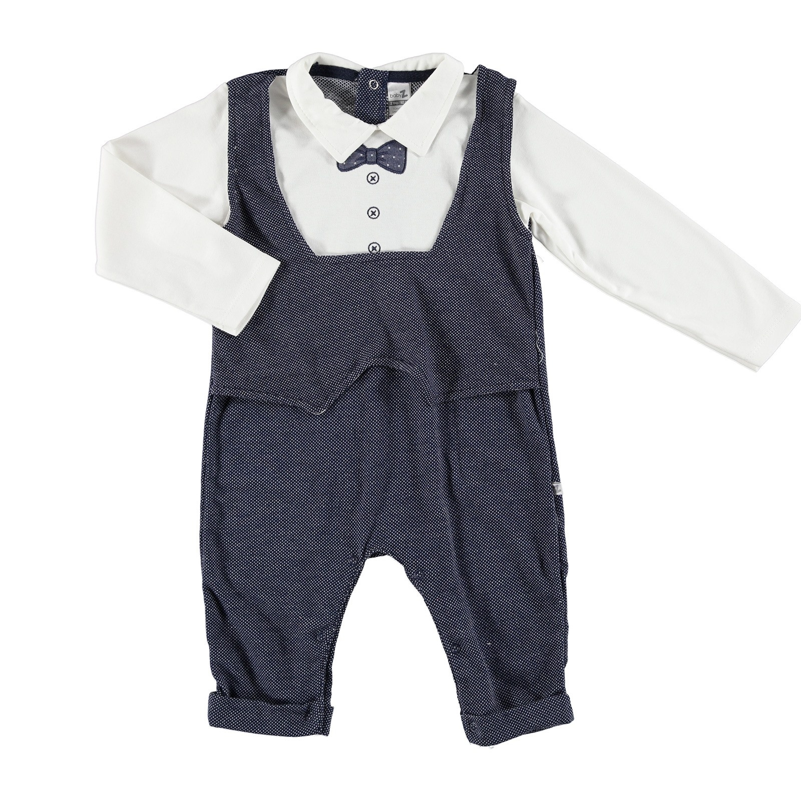 Ebebek BabyZ Bowtie Embroidered Baby Footless Romper