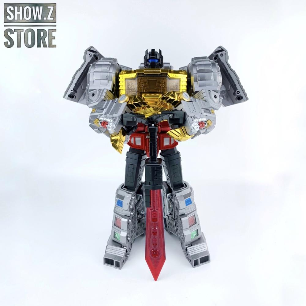 [Afficher. Z Store] GigaPower GP HQ-01R HQ01R Superator Grimlock Dinobots Chrome Version Transformation figurine