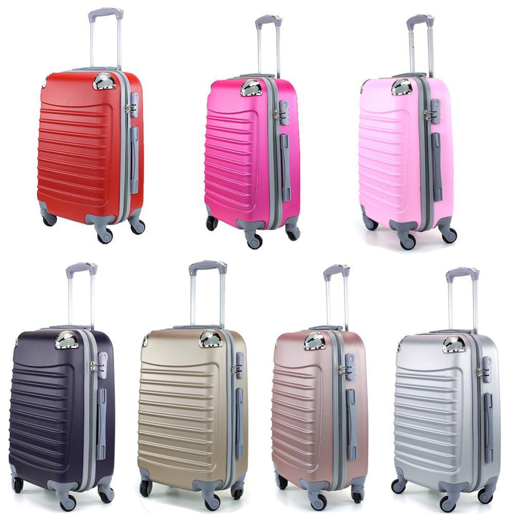 Suitcase Tickets Baggage De Hand Travel Cabin Trolley ABS Rigid 4 Wheel Castors 55cm