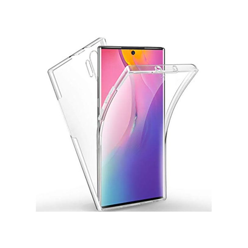 Double 360 ° Stand Case For XIAOMI Mi NOTE 10 Front + Back Clear