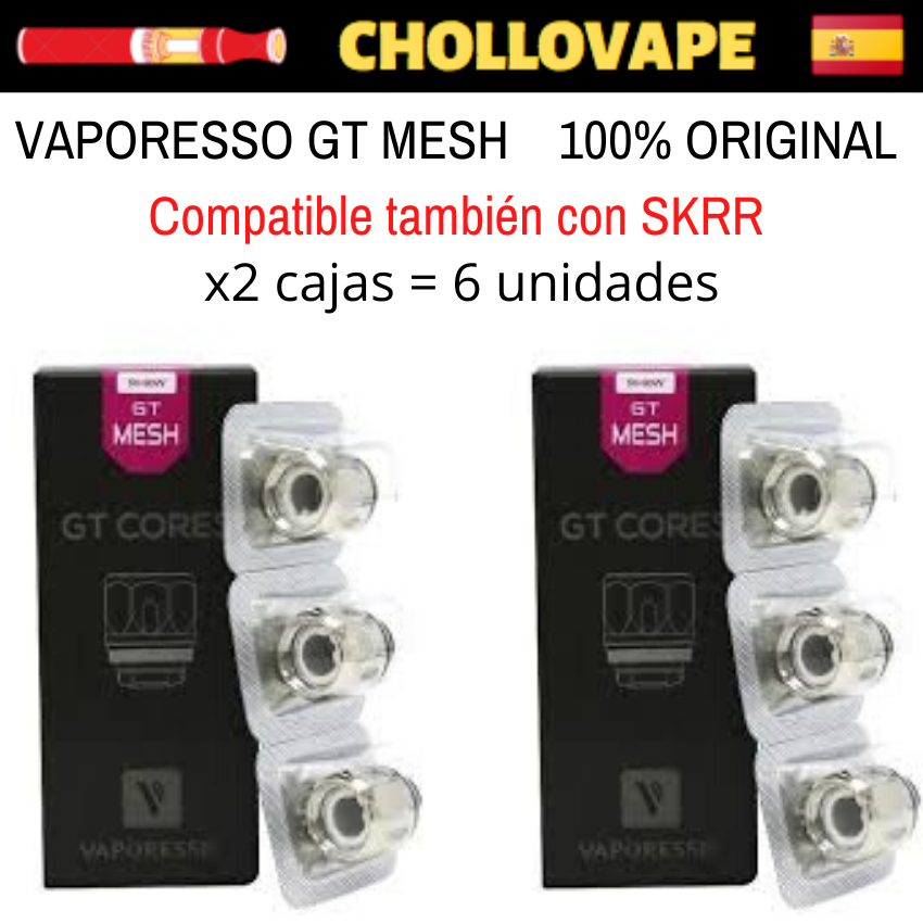 2 Boxes Resistors Vaporesso GT MESH-To Sky Single, Nrg, Skrr, Cascade...