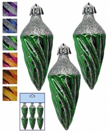Елочная игрушка сосулька блестящая 6 шт микс (2 цвета в асс) Snowmen Е40340|Декоративные шары| | АлиЭкспресс