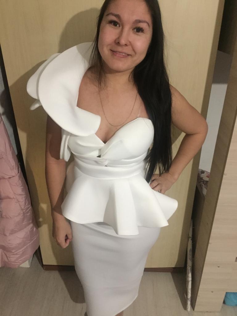 Missord 2020 Women Sexy Bodycon Off Shoulder Bandage Dresses Female Ruffles Backless Elegant Club Summer Dress Vestido TB0020 reviews №4 611682