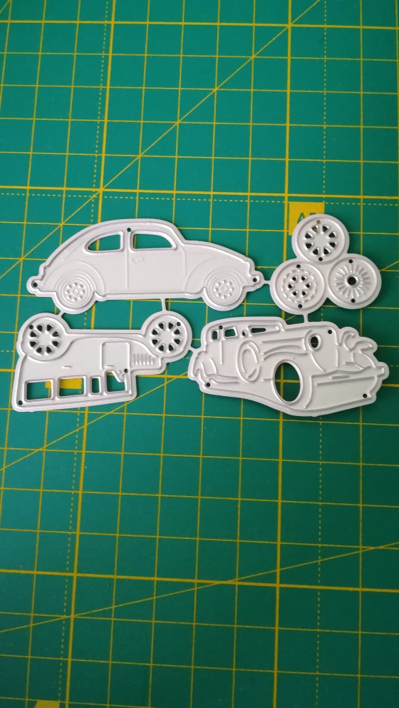 4pcs Classic Cars Metal Cutting Dies For DIY Scrapbooking Album Paper MW
