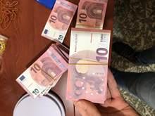 Игрушка клип деньги из натуральной кожи Размеры 100 штук 10/20/50/100/200/500 евро супер же отделение для банкнот большой вечерние свадебные украшени...
