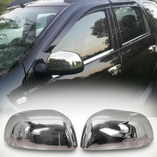 Chrome rear view enclosures for Dacia Duster 2010 to 2011 stainless steel