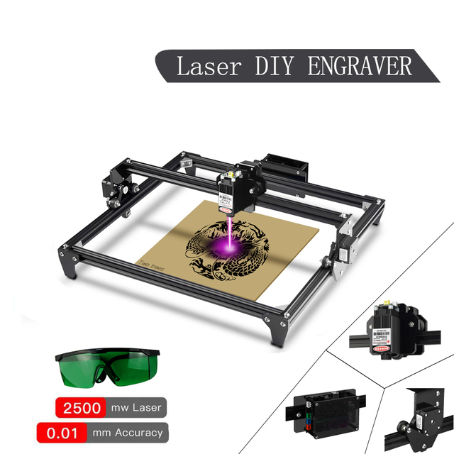 TWO TREES Totem 30*40cm Mini 2500MW 5500MW 2Axis CNC Laser Engraving Machine DIY Engraver Desktop Wood Router/Cutter/Printer