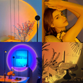 Солнесветильник свет, закат, проекция, Радуга светильник, s, живой фон, закат, проектор, атмосферная лампа, украшение для спальни, стены