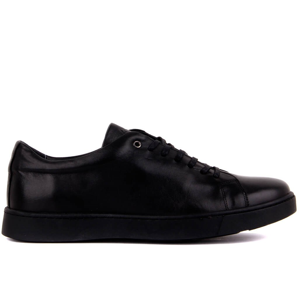 Sail-Lakers Black Leather Men Sneaker