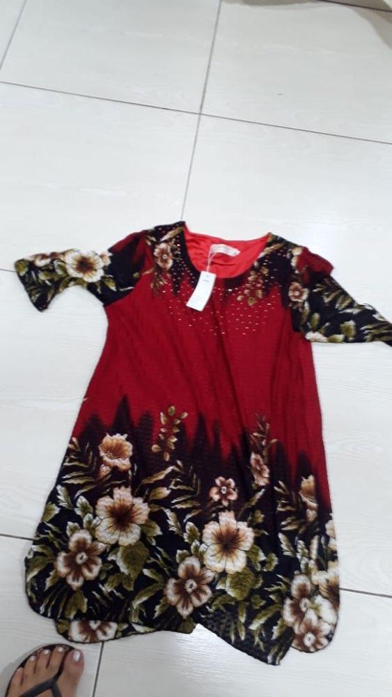 Fashion Spring Summer Three Quarter Slim Floral Long Shirt Female Casual Slim Color Plus Size Elegant Printed Blouse photo review