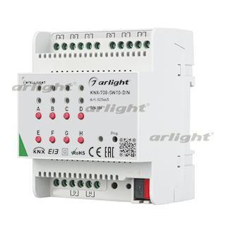 025665 INTELLIGENT ARLIGHT Relay Module KNX-708-SW10-DIN (BUS, 8x10A) ARLIGHT 1-pc