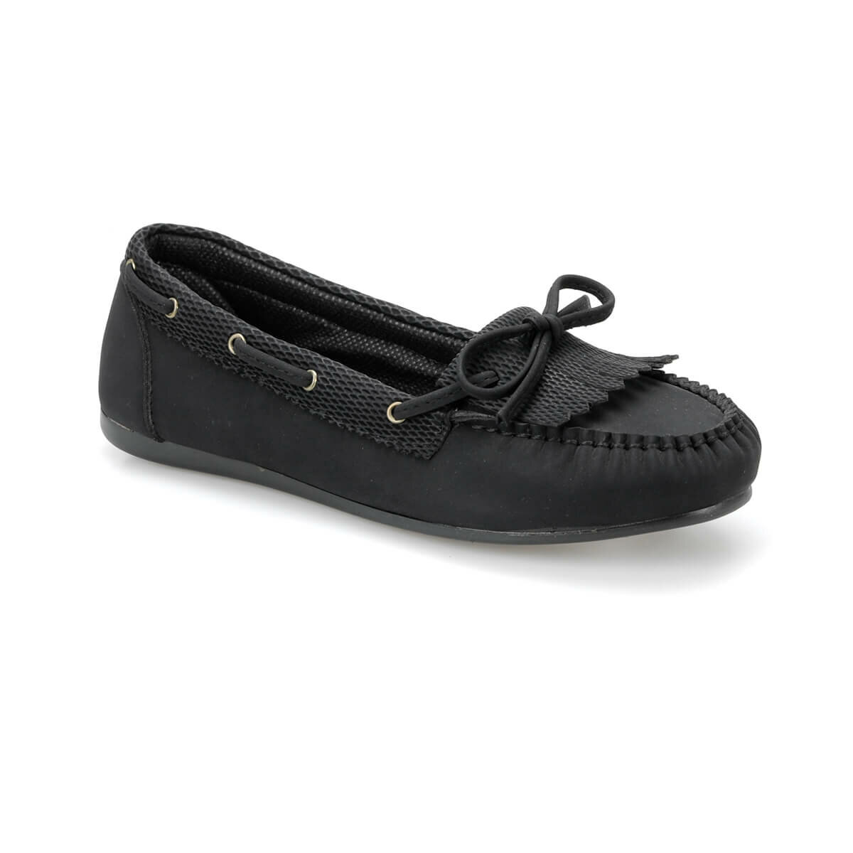 FLO DS18023-19S Black Women Loafer Shoes Miss F