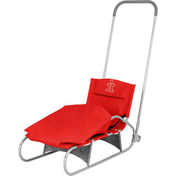 Folding sled Demi gray red