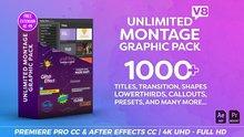 Videovve – Pack de Montage graphique V8, titres, Transitions, tiers inférieurs et plus