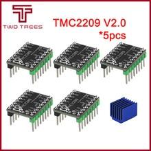 5 uds MKS TMC2209 V2.0 TMC2208 controlador de Motor paso a paso StepStick 2.5A UART Ultra silencioso para Gen_LRobin Nano SKR V1.3 Mini E3 Ender 3