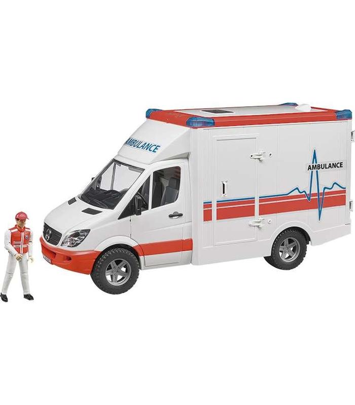 Closed Box Ambulance With Driver And Mermaid 54x17x22 Bruder Toy Store