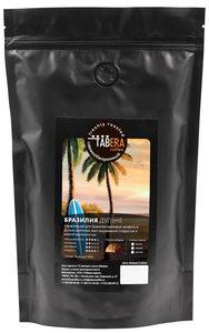 Свежеобжаренный coffee tabera Brazil imamema dulche in grains, 200g