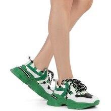 ILVi-Genuine Leather Handmade Txas Women's Sneaker Green Women
