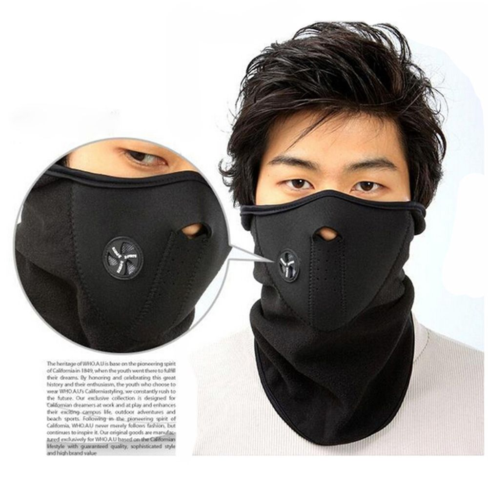 Anti Pollution PM2.5 Mask Snowboard Motorcycle Bike Winter Face Mask Neck Sport Gifts Protection Against Influenza Virus