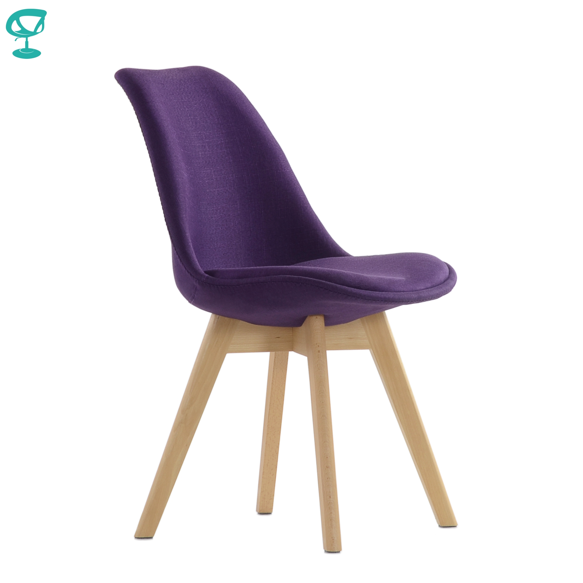 95737 Barneo N-22 Kitchen Chair On Wooden Base Seat Fabric Chair For Living Room Chair Dining Chair Furniture For Kitchen