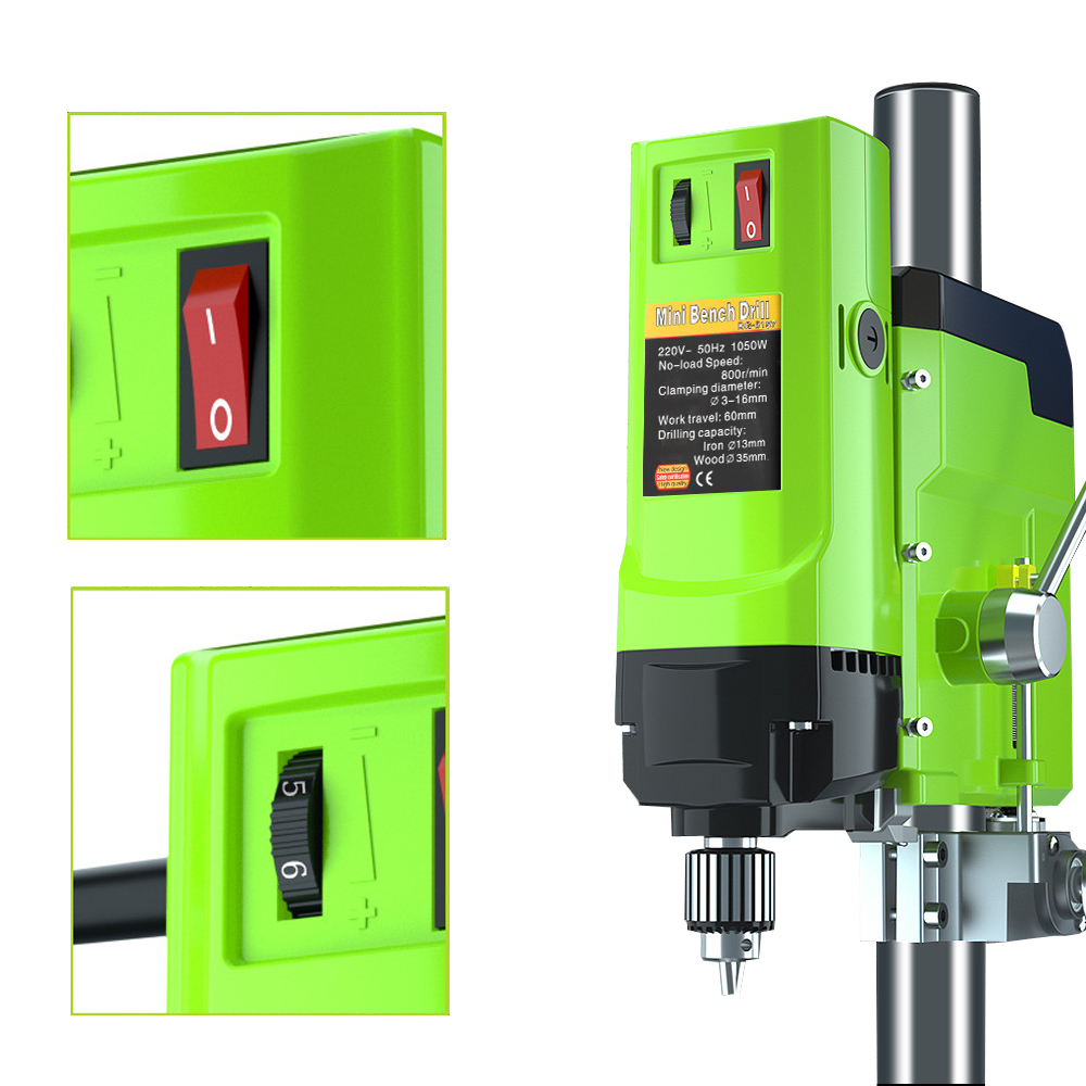Bench DIY Drilling 16mm Tools Metal For Machine Drilling ALLSOME Wood Mini Bench Variable Electric Chuck Speed Drill 1
