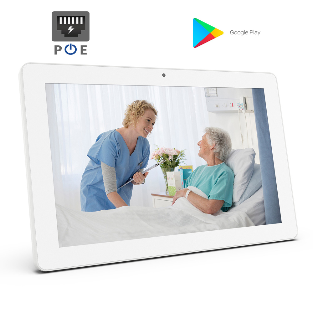 Tableta IPS de 10,1 pulgadas con POE (Android6.0, play store, Octa core Rockchip3368, 1GB + 8 GB, Bluetooth, cámara, micrófono)