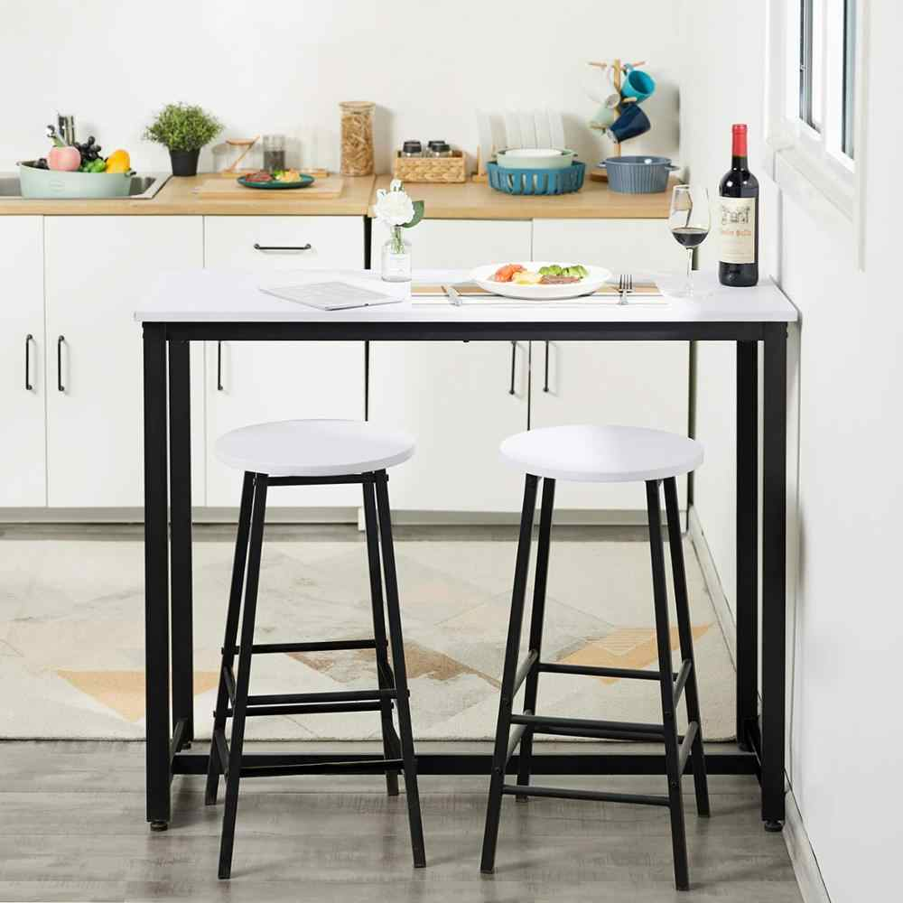 3 Piece Pub Table Set Breakfast Bar Table With 2 Bar Stools Counter Height Dining Bar Table Set For Kitchen Living Room Bar Furniture Sets Aliexpress