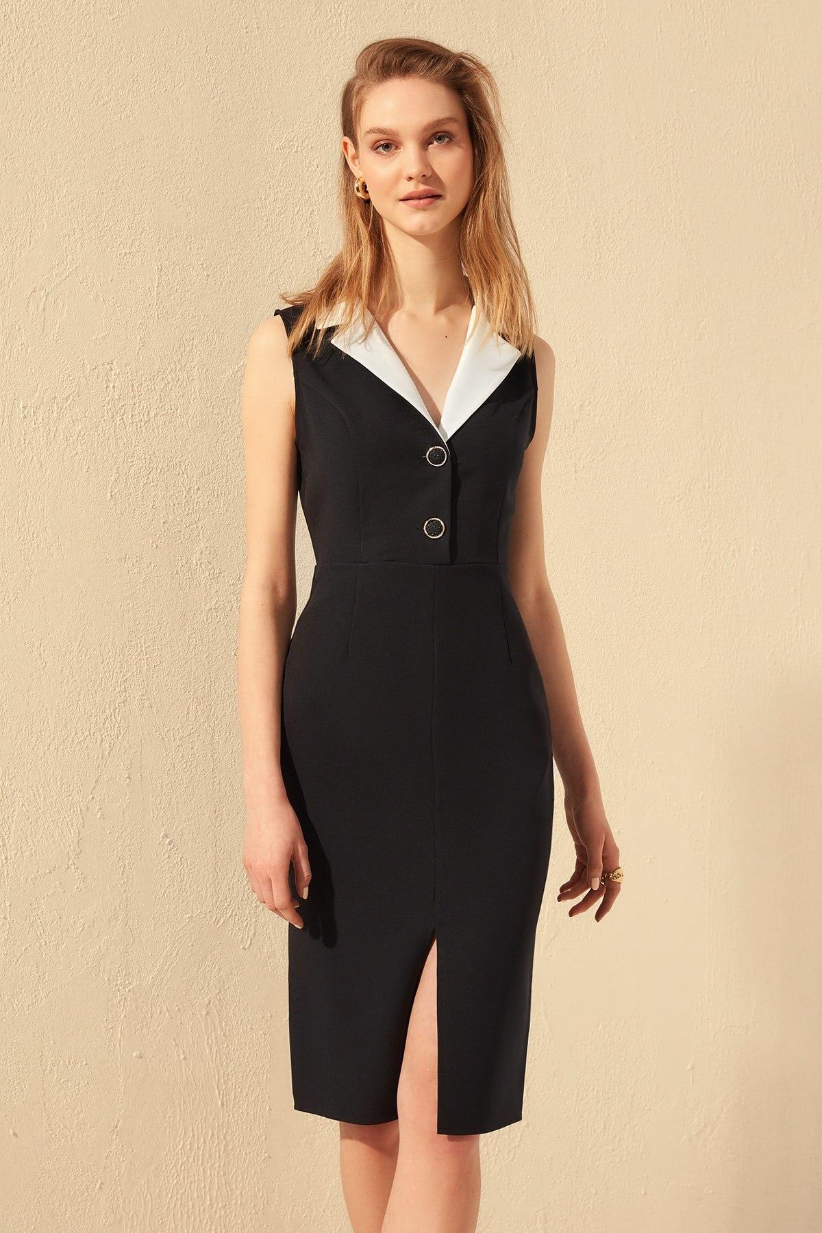 Trendyol Collar Detail Dress TWOSS20EL0418