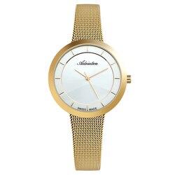 Reloj para mujer a3499.113q en una pulsera de acero con revestimiento de PVD, cristal mineral, luz solar