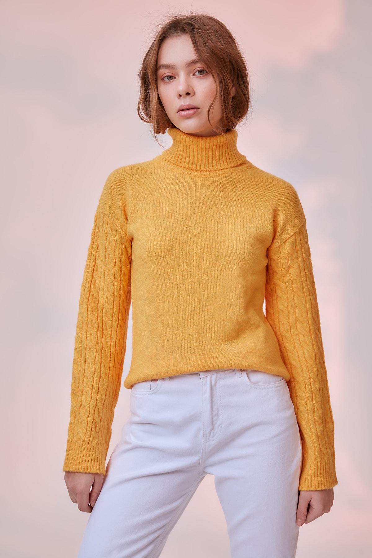 Trendyol Handle Hair Braided Knitwear Sweater TWOAW20KZ0612