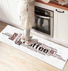 Else белый пол на кофе Writen 3d принт Нескользящая микрофибра кухня счетчик современный декоративный моющийся коврик