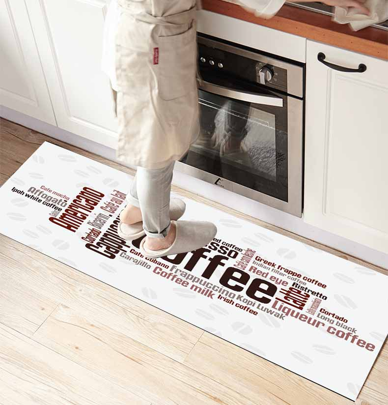 Else White Floor On Coffee Writen 3d Print Non Slip Microfiber Kitchen Counter Modern Decorative Washable Area Rug Mat