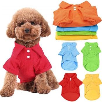 Dog Shirt Pet Puppy Polo Shirt Cat T-Shirt Clothes Costume Apparel T-Shirt Tops Pet Supplies 6 Colors XS S M L XL