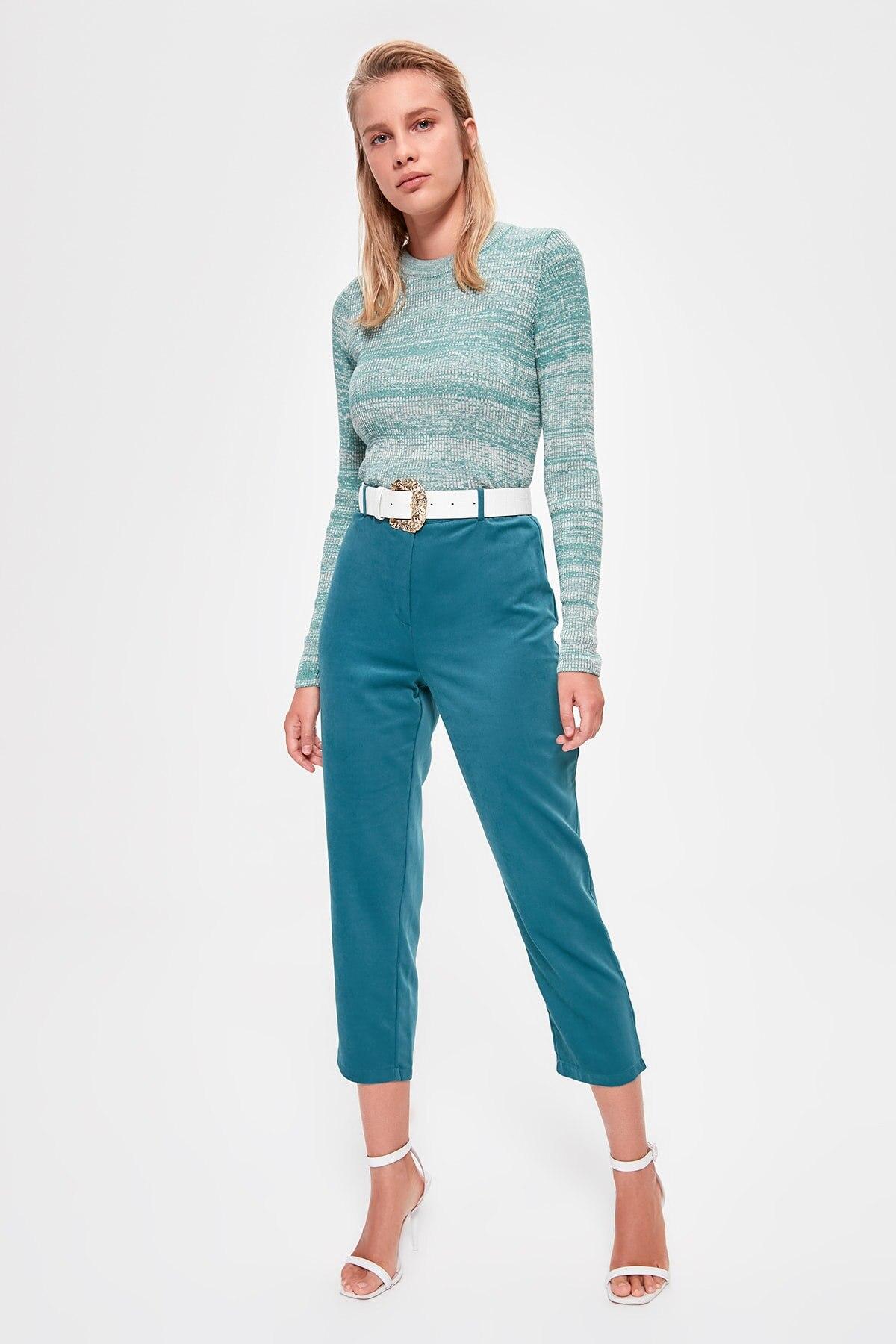Trendyol Suede Pants TWOAW20PL0494