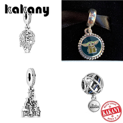 KAKANY 2020 New High end  Disne Parks Star Wars Baby Yoda The Child, Millennium Falcon, Space Mountain, Castle Couple Charm