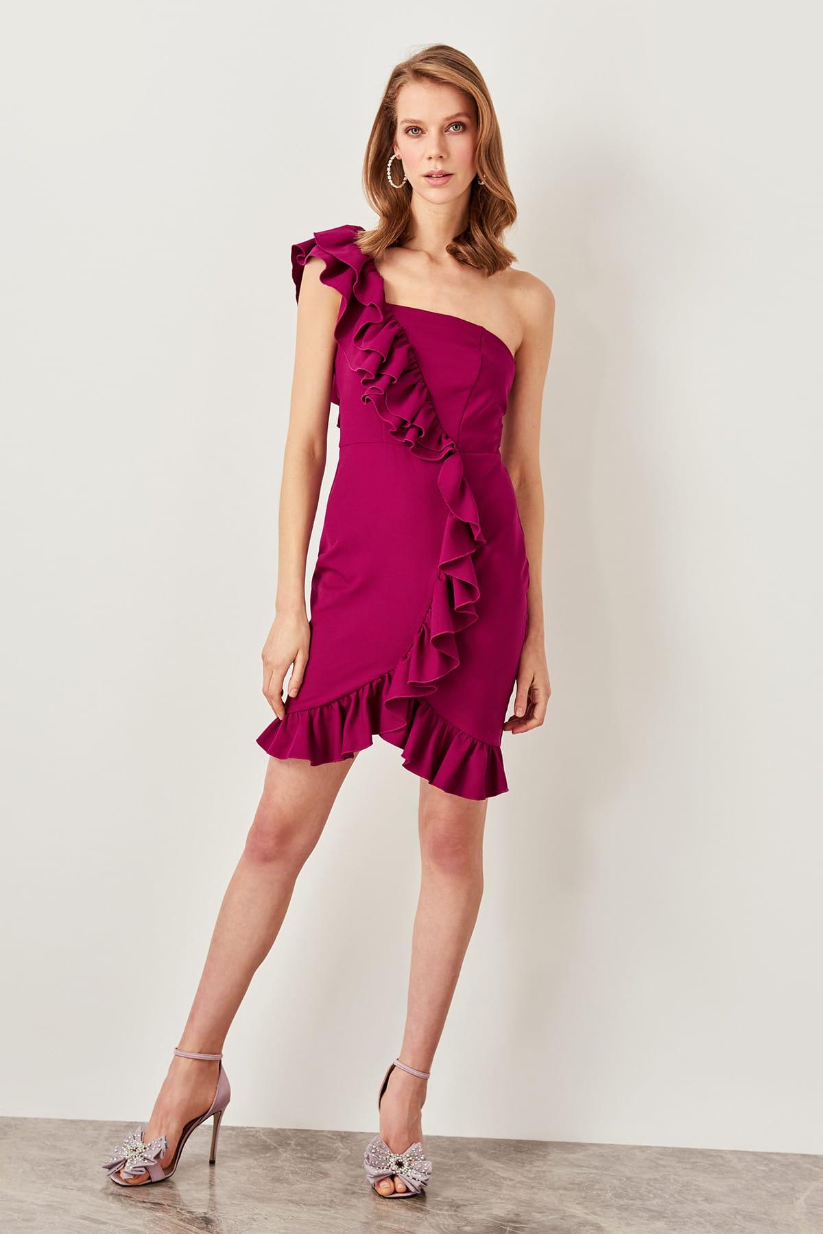 Trendyol Ruffle Detail Dress TPRSS19FZ0293