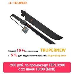 Sah Truper 13098 machete bilateralen, stahl klinge + Garten sah, komfortable mantel-fall, harte schale, textil, Montieren gürtel