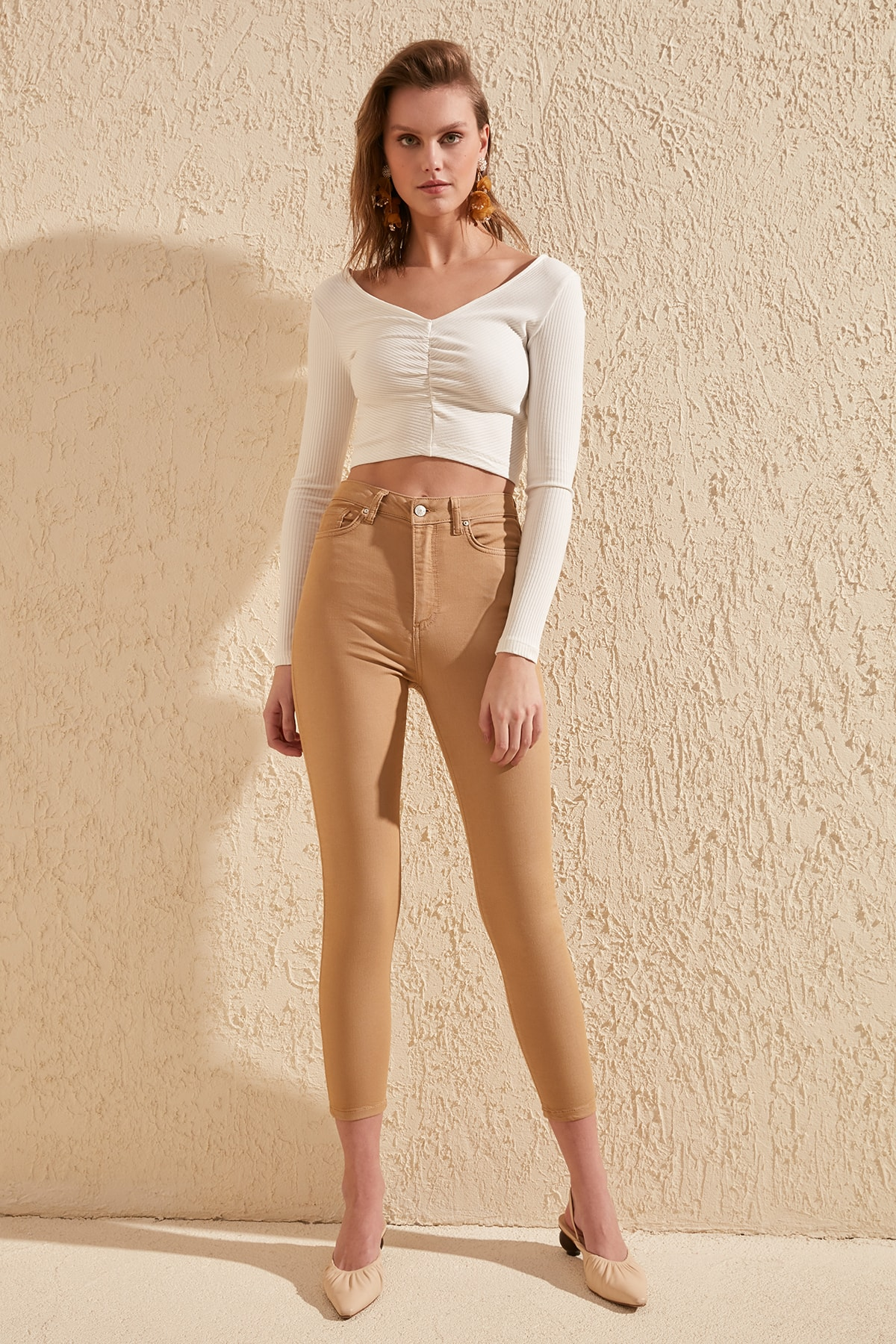 Trendyol High Waist Skinny Jeans TWOSS20JE0217
