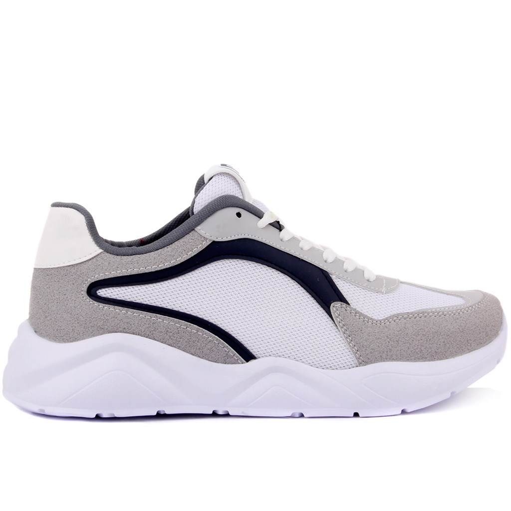 Pierre Cardin-White, Gray Color Men 'S Sneaker