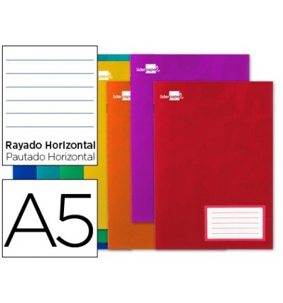 NOTEPAD LEADERPAPER WRITE A5 32 SHEETS 60G/M2 HORIZONTAL MARGIN 20 PCs
