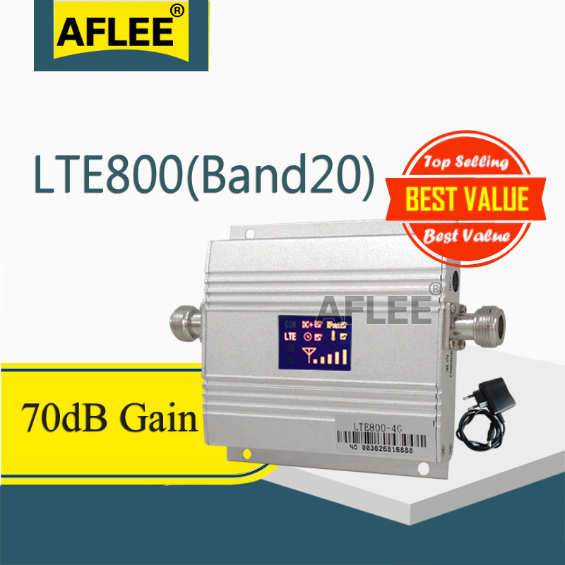 1PCS Band20 LTE 800MHz 4G Network Mobile Signal Booster 800Mhz 4g Cell Phone Amplifier 4G Cellular Signal Repeater GSM 4g