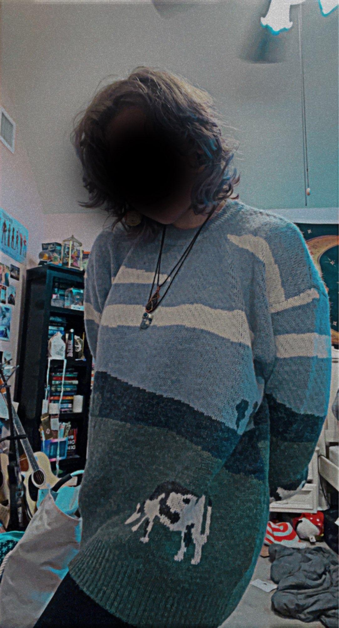 Eboy Egirl Y2K Vintage Cows print Sweaters photo review