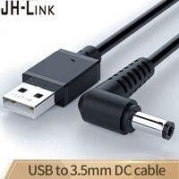 Jh-link USB do Dc 5.5mm kabel Usb do ładowania łokcia A męski na 5.5 łącze typu Jack 5v ładowarka zasilająca do okrągłego kabla zasilającego Usb