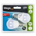 Сферический светодиодный светильник лампы Мега светодиодный P45-5 5 Вт E14 4000K 390 lm белый светильник (2 предмета)