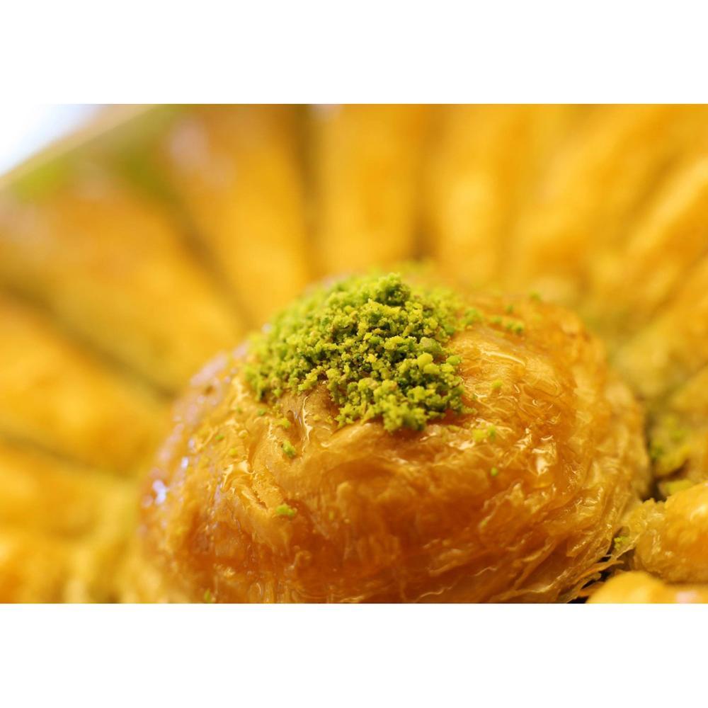 Gulluoglu carrot slice Baklava with pistachio, freshly produced Turkish Baklava 560 GRAM  FREE SHİPPİNG  FREE SHİPPİNG