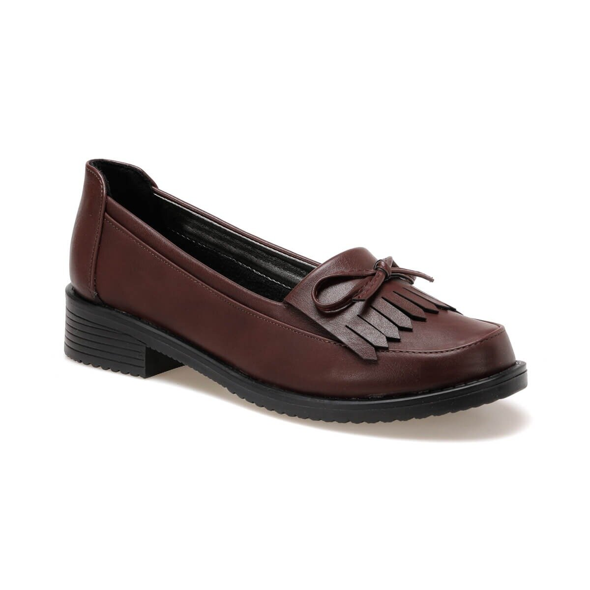 FLO 92.151055.Z Burgundy Women Loafer Shoes Polaris