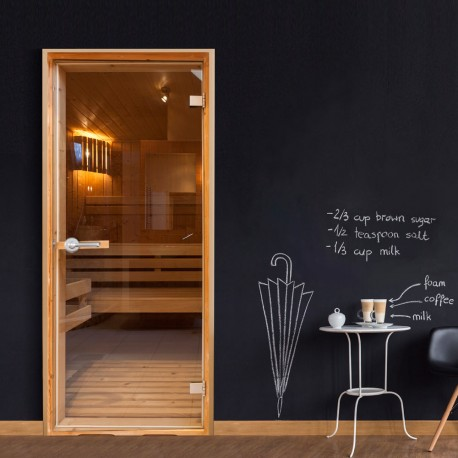 Photo Wallpaper For Door-Sauna