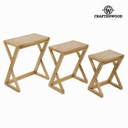 Zestaw 3 stołów Mindi wood ios village Collection by Craftenwood na