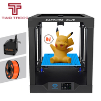 Sapphire Plus DIY 3D Printer Kit 300*300*350mm Printing Size With Dual Drive BMG Extruder X Axis Y Axis Linear Guide Face Sheild