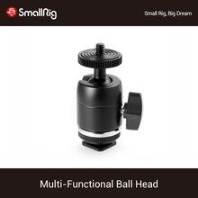 SmallRig çok fonksiyonlu topu kafa ile çıkarılabilir ayakkabı dağı Dslr kamera kafesi monitörleri Led işıklar 1875